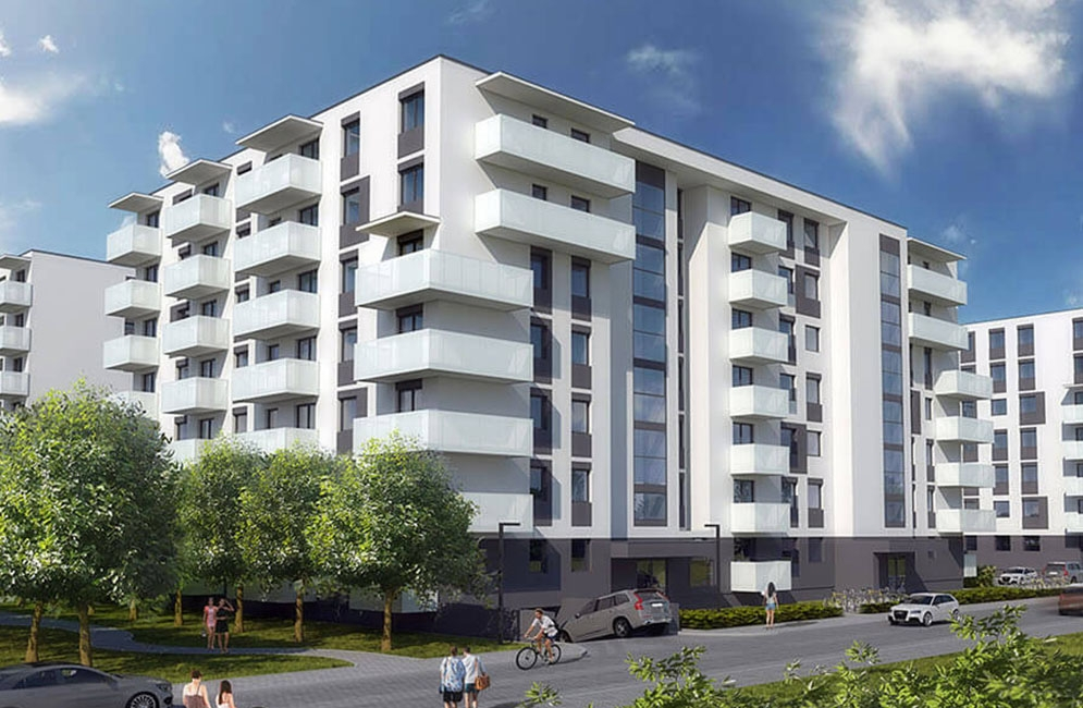 OSIEDLE CZARTORYSKIEGO - Budynek B1 - ZAKOŃCZENIE BUDOWY: WRZESIEŃ 2020 R.