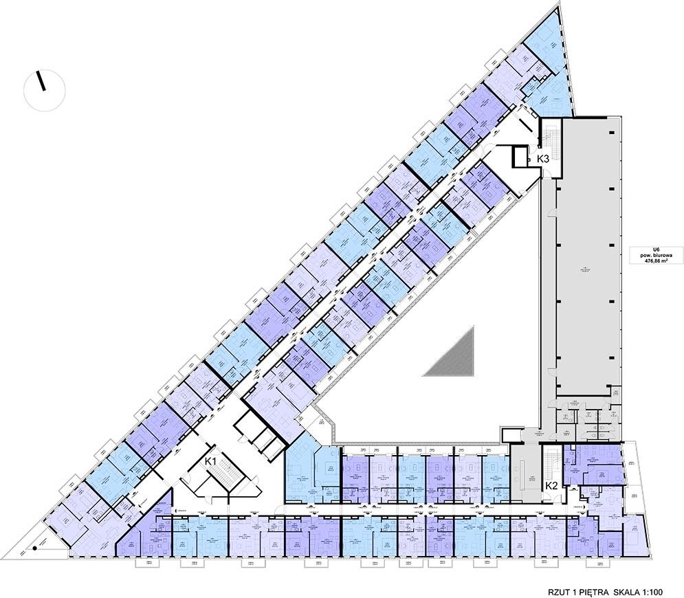 Apartamentowiec ZWYCIĘSKA 3 - Piętro 1