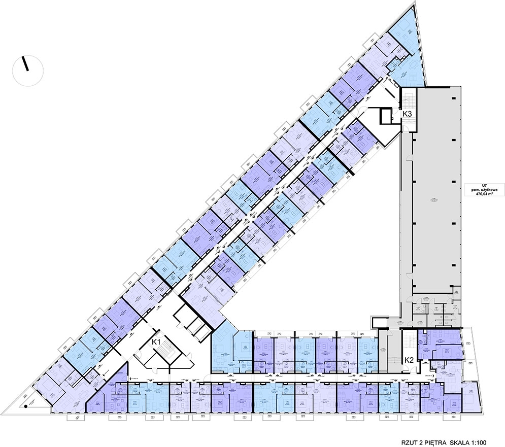 Apartamentowiec ZWYCIĘSKA 3 - Piętro 2