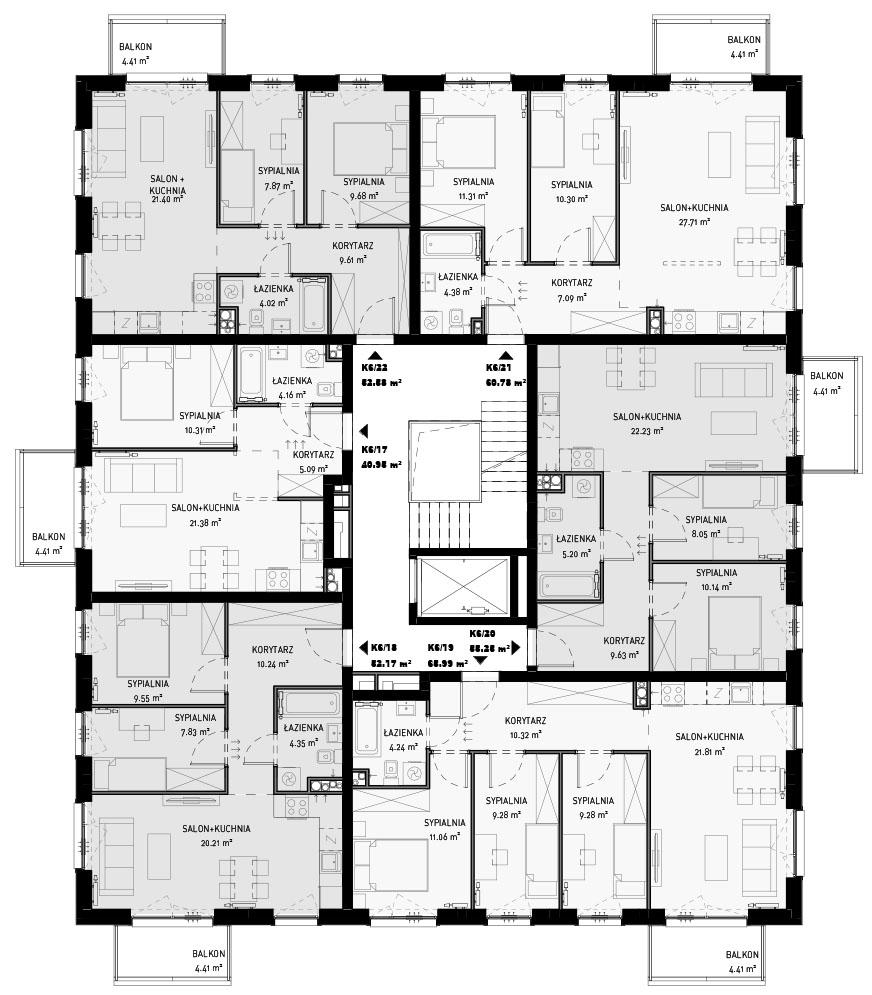 NOWA ZATORSKA - Budynek F - Budynek sprzedany - Piętro 3 - sprzedane