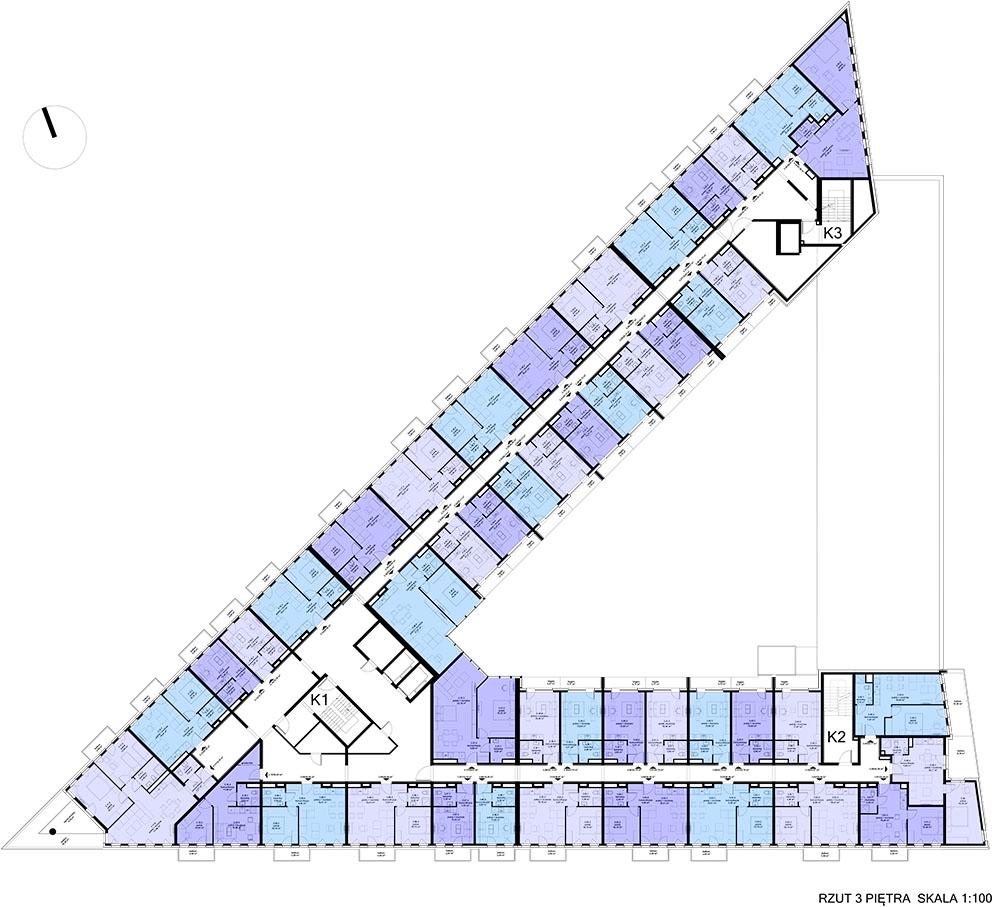 Apartamentowiec ZWYCIĘSKA 3 - Piętro 3